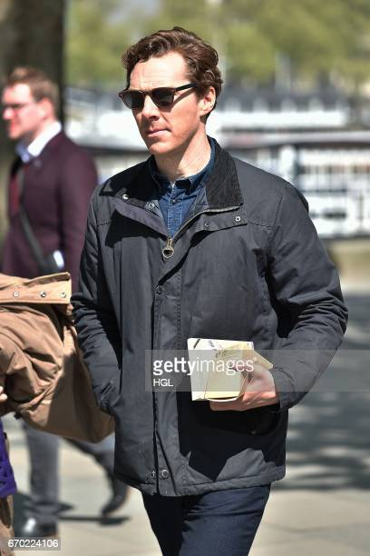 Benedict Cumberbatch seen on location filming for 'The Child In Time' TV Movie on April 19 2017 in London England