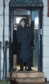 Benedict Cumberbatch sighting on the set of Sherlock Holmes on April 10 2013 in London England