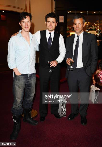 Benedict Cumberbatch Tom Chambers and Rupert Graves are seen at the English National Ballets 60th Anniversary production of Swan Lake at the Royal...