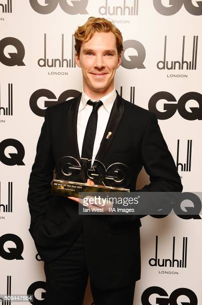 Benedict Cumberbatch with the Actor of The Year award at the 2011 GQ Men of the Year Awards at the Royal Opera House Covent Garden London