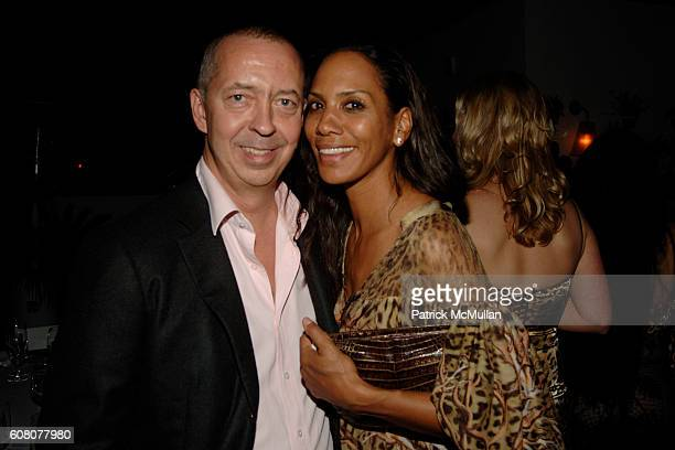 Benedict Taschen and Barbara Becker attend Rush Philanthropic Dinner hosted by Russell Simmons and Kehinde Wiley at The Delano on December 6 2006 in...
