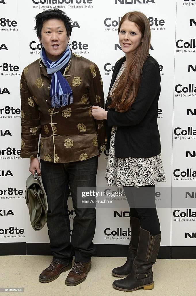 Benedict Wong (L) attends the premiere of Rankin's Collabor8te connected by NOKIA at Regent Street Cinema on February 12, 2013 in London, England.