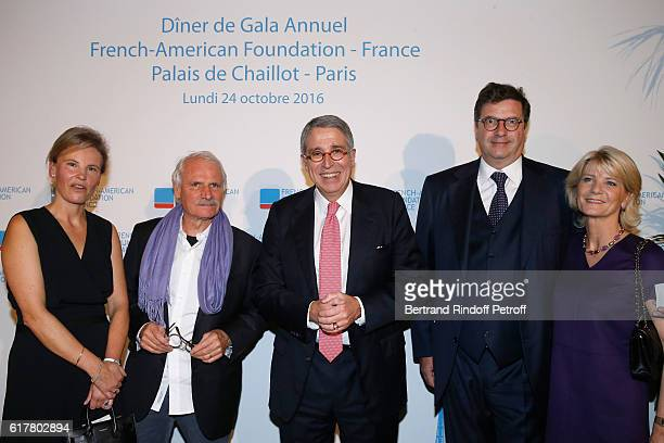 Benedicte de Puyfontaine Photographer Yann ArthusBertrand President of the 'FrenchAmerican Foundation France' and CEO of Vivendi Arnaud de...