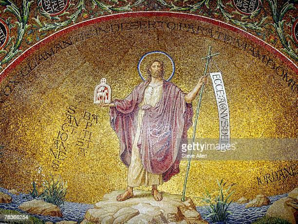 Benedictine abbey mosaic of Jesus