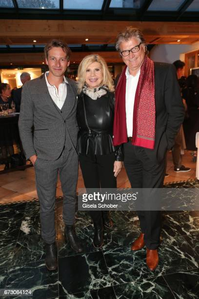 Benedikt 'Ben' Blaskovic and Marianne Hartl and her husband Michael Hartl during the piano night hosted by Wempe and Glashuette Original at...