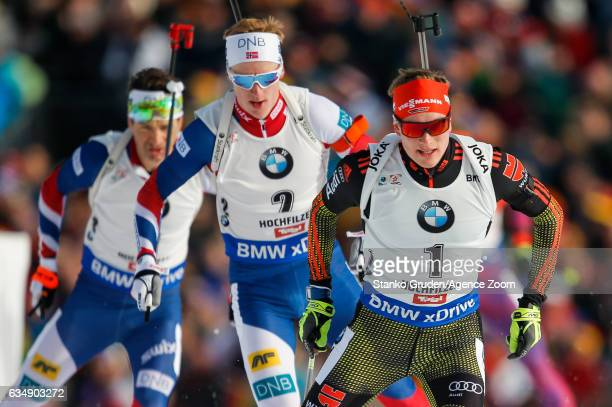 Benedikt Doll of Germany in action during the IBU Biathlon World Championships Men's and Women's Pursuit on February 12 2017 in Hochfilzen Austria