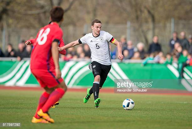 Benedikt Gimber of Germany during the international friendly match between Germany and South Korea on March 26 2016 in Ingelheim Germany