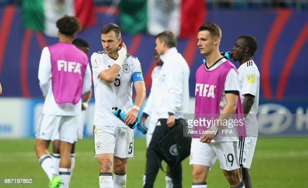 Benedikt Gimber of Germany looks dejected after the FIFA U20 World Cup Korea Republic 2017 group B match between Mexico and Germany at Daejeon World...