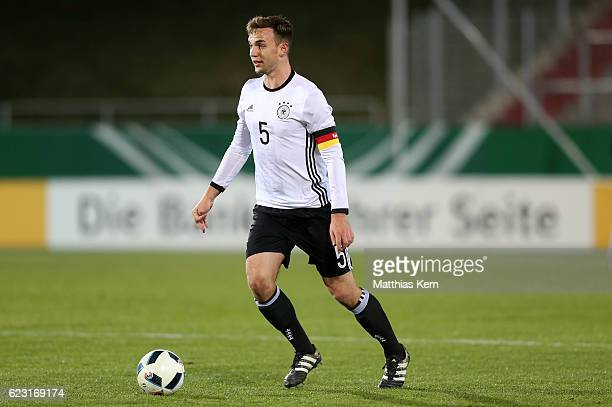 Benedikt Gimber of Germany runs with the ball during the U20 international friendly match between Germany and Poland at Stadion Zwickau on November...