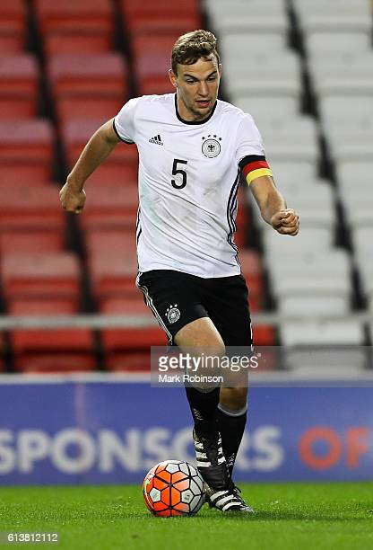 Benedikt Gimber of Germany U20 during the U20 International Friendly match between Germany and Netherlands on October 10 2016 in Leigh Greater...