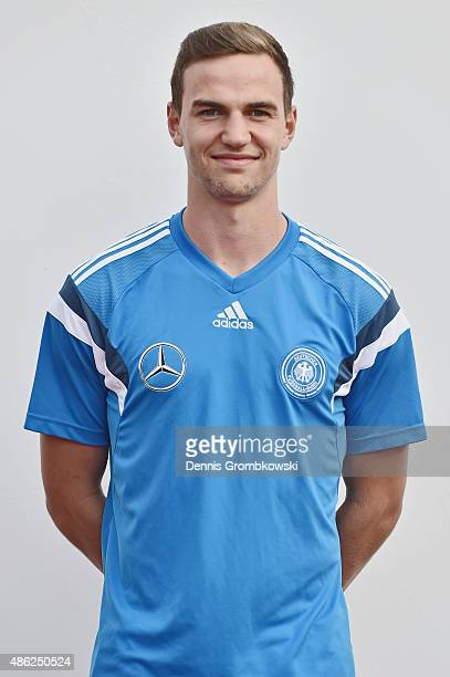 Benedikt Gimber poses during the Germany Under 19 Team Presentation on September 2 2015 in Bergisch Gladbach Germany