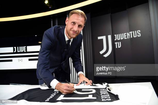 Benedikt Howedes attends unveil new signing Benedikt Howedes at Allianz Stadium on August 31 2017 in Turin Italy