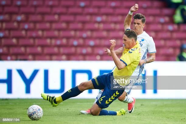 Benedikt Röcker of Brondby IF and Benjamin Verbic of FC Copenhagen compete for the ball during the Danish Cup Final DBU Pokalen match between FC...
