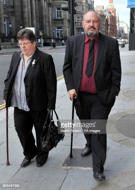 Benefit cheat Peter Crowder arrives with an unidentified woman for sentence at Liverpool magistrates court The benefit cheat who was exposed when...