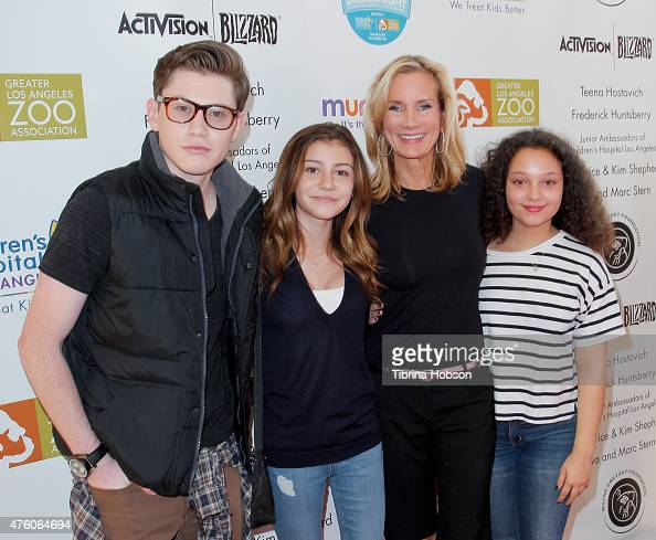 LJ Benet G Hannelius Beth Littleford and Kayla Maisonet attend 'Dreamnight' at the Los Angeles Zoo on June 5 2015 in Los Angeles California