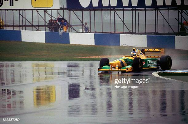 Benetton B193A Michael Schumacher 1993 Euro GP at Donington Artist Unknown