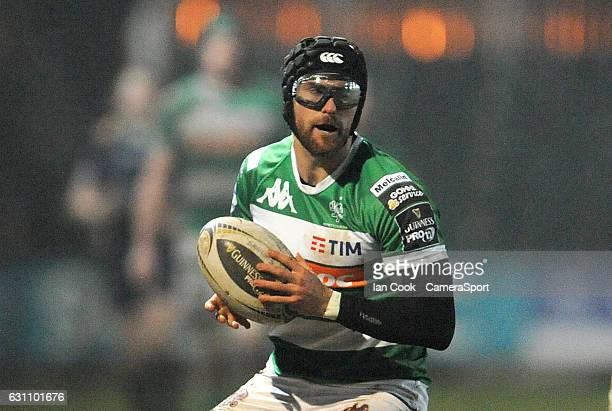 Benetton Treviso's Ian McKinley during the Guinness PRO12 Round 13 match between Newport Gwent Dragons and Benetton Rugby Treviso at Rodney Parade on...