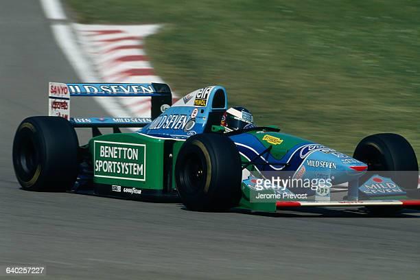 BenettonFord Formula One driver Michael Schumacher racing at the 1993 San Marino Grand Prix