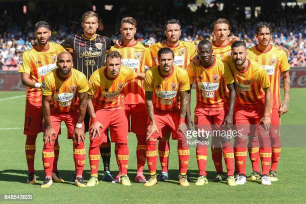 Benevento Calcio Team during the Serie A TIM match between SSC Napoli and Benevento Calcio at Stadio San Paolo Naples Italy on 17 September 2017