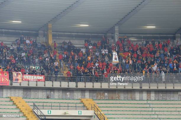 Benevento fans shows their support during the Serie A match between Hellas Verona FC and Benevento Calcio at Stadio Marc'Antonio Bentegodi on October...