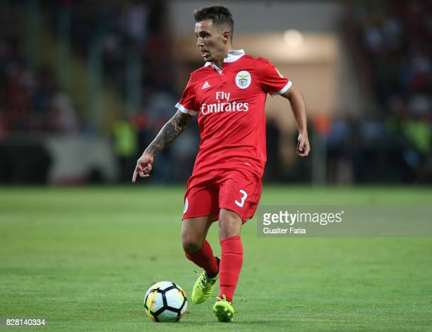 Benfica defender Alejandro Grimaldo from Spain in action during the SuperTaca match between SL Benfica and Vitoria Guimaraes at Estadio Municipal de...