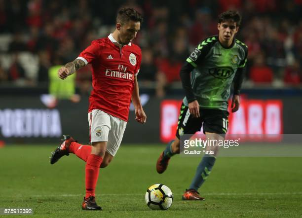 Benfica defender Alejandro Grimaldo from Spain in action during the Portuguese Cup match between SL Benfica and Vitoria Setubal at Estadio da Luz on...