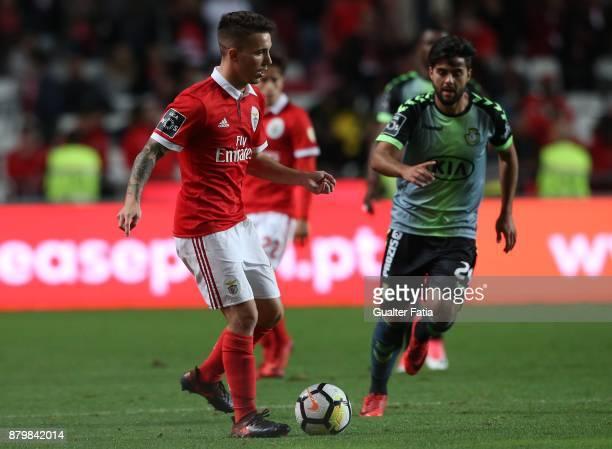 Benfica defender Alejandro Grimaldo from Spain in action during the Primeira Liga match between SL Benfica and Vitoria Setubal at Estadio da Luz on...