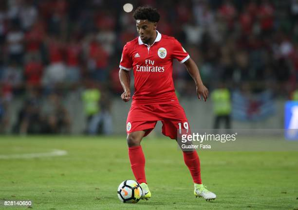 Benfica defender Eliseu from Portugal in action during the SuperTaca match between SL Benfica and Vitoria Guimaraes at Estadio Municipal de Aveiro on...