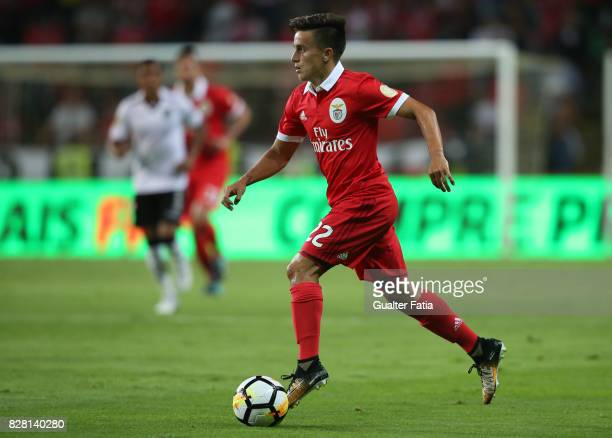 Benfica forward Franco Cervi from Argentina in action during the SuperTaca match between SL Benfica and Vitoria Guimaraes at Estadio Municipal de...