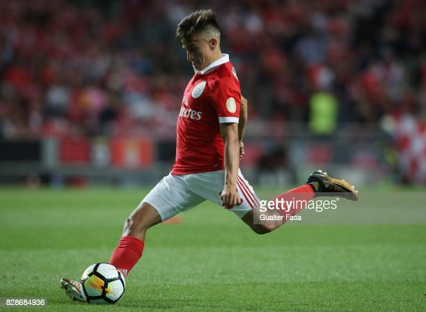 Benfica forward Franco Cervi from Argentina in action during the Primeira Liga match between SL Benfica and SC Braga at Estadio da Luz on August 9...