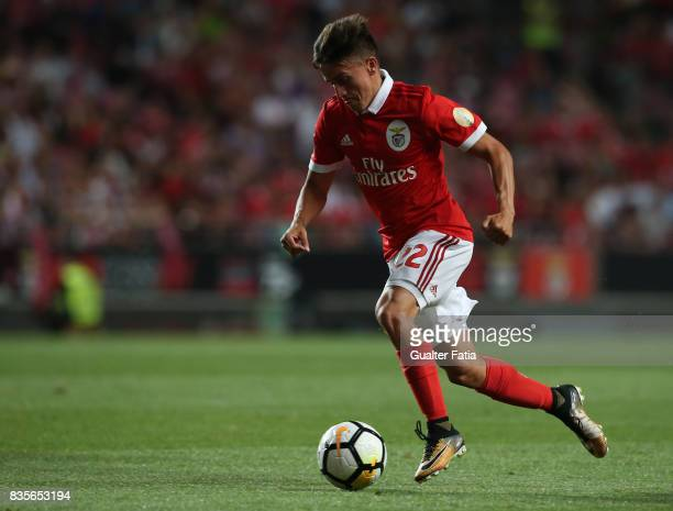Benfica forward Franco Cervi from Argentina in action during the Primeira Liga match between SL Benfica and CF Os Belenenses at Estadio da Luz on...