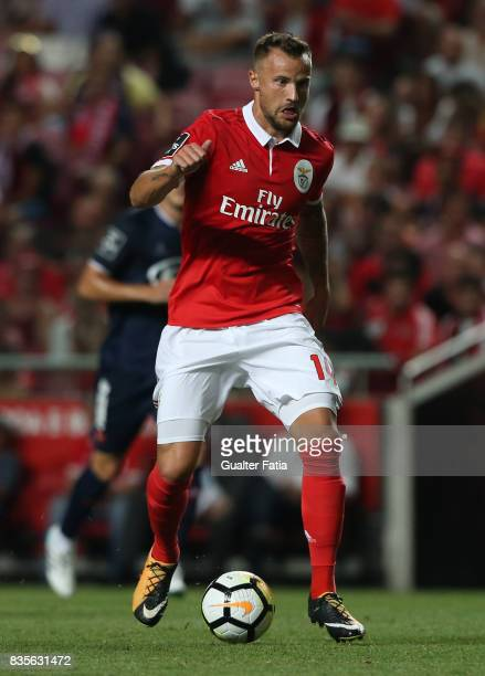 Benfica forward Haris Seferovic from Switzerland in action during the Primeira Liga match between SL Benfica and CF Os Belenenses at Estadio da Luz...