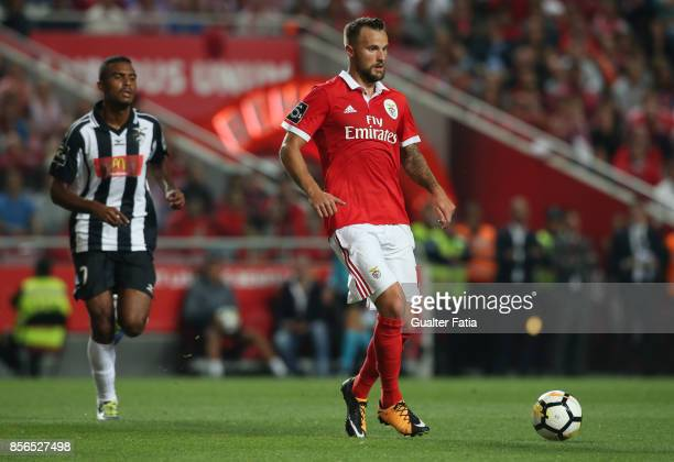 Benfica forward Haris Seferovic from Switzerland in action during the Primeira Liga match between SL Benfica and Portimonense SC at Estadio da Luz on...
