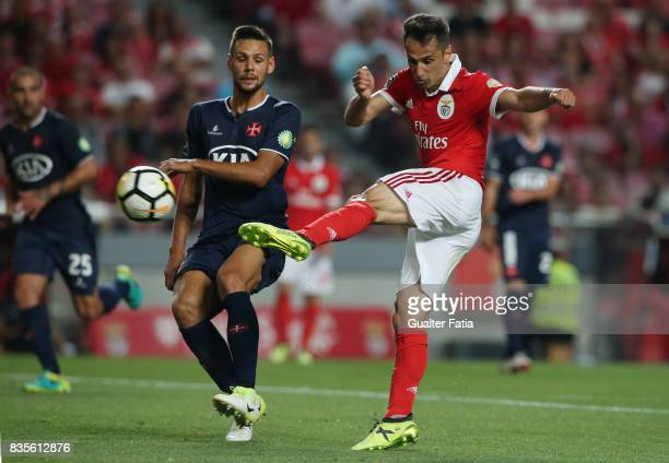 Benfica forward Jonas from Brazil scores goal during the Primeira Liga match between SL Benfica and CF Os Belenenses at Estadio da Luz on August 19...