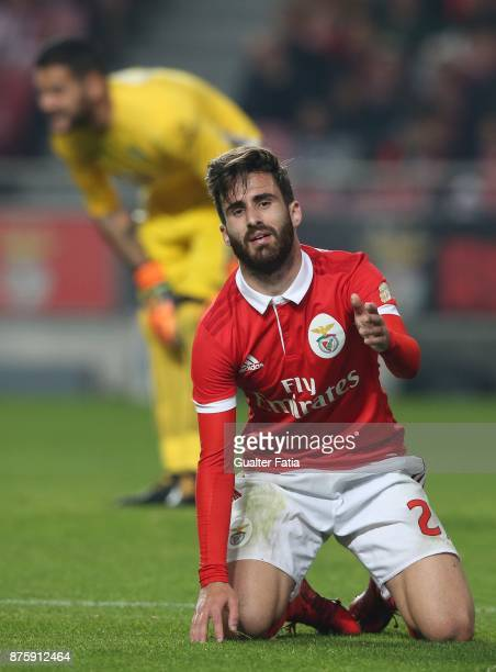 Benfica forward Rafa Silva from Portugal reaction after missing a goal opportunity during the Portuguese Cup match between SL Benfica and Vitoria...