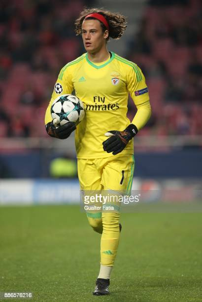 Benfica goalkeeper Mile Svilar from Belgium in action during the UEFA Champions League match between SL Benfica and FC Basel at Estadio da Luz on...