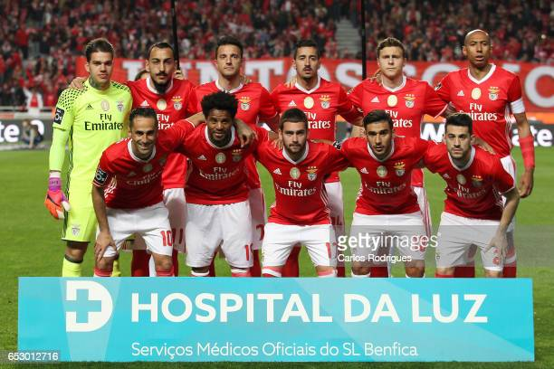 Benfica initial team during the match between SL Benfica and CF Os Belenenses for the Portuguese Primeira Liga at Estadio da Luz on March 13 2017 in...
