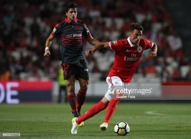 Benfica midfielder Andreas Samaris from Greece in action during the Portuguese League Cup match between SL Benfica and SC Braga at Estadio da Luz on...