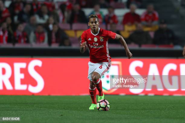 Benfica midfielder Filipe Augusto from Brasil during the match between SL Benfica and GD Chaves for the Portuguese Primeira Liga at Estadio da Luz on...