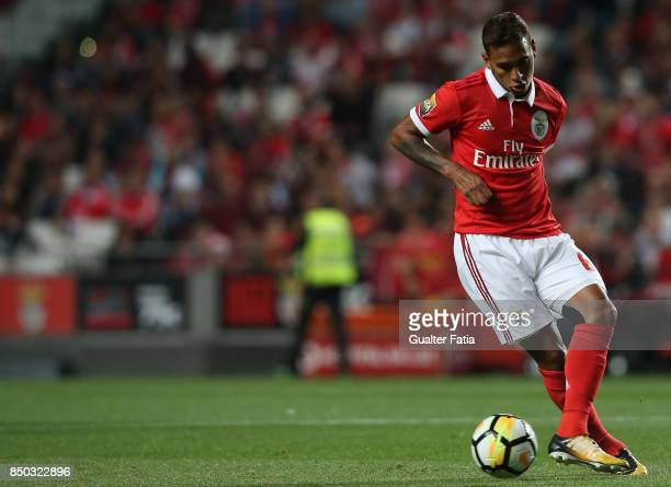 Benfica midfielder Filipe Augusto from Brazil in action during the Portuguese League Cup match between SL Benfica and SC Braga at Estadio da Luz on...