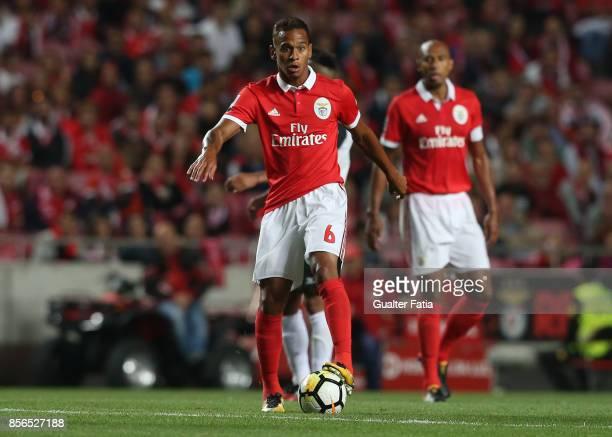 Benfica midfielder Filipe Augusto from Brazil in action during the Primeira Liga match between SL Benfica and Portimonense SC at Estadio da Luz on...