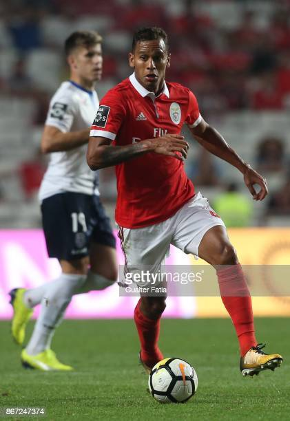 Benfica midfielder Filipe Augusto from Brazil in action during the Primeira Liga match between SL Benfica and CD Feirense at Estadio da Luz on...