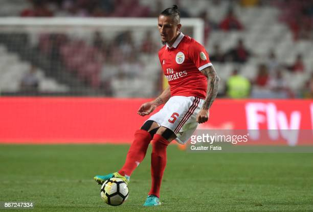 Benfica midfielder Ljubomir Fejsa from Serbia in action during the Primeira Liga match between SL Benfica and CD Feirense at Estadio da Luz on...