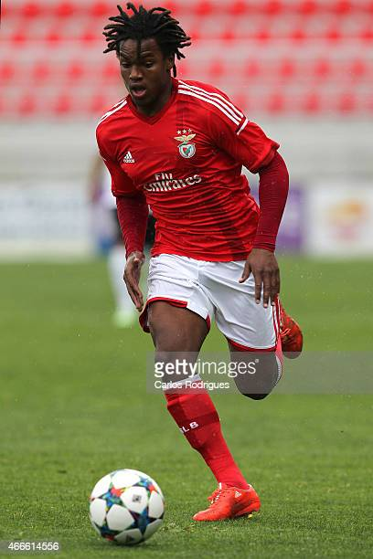 Benfica midfielder Renato Sanches during the UEFA Youth League Quarter Final between SL Benfica and Shakhtar Donetsk at Caixa Futebol Campus on March...