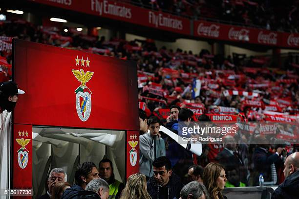 Benfica supporters during the match between SL Benfica and CD Tondela for the portuguese Primeira Liga at Estadio da Luz on March 14 2016 in Lisbon...