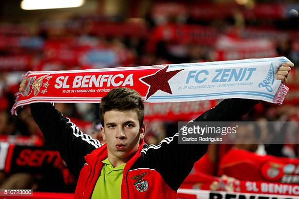 Benfica supporters during the match between SL Benfica and FC Zenit for the UEFA Champions League Round of 16 First Leg at Estadio da Luz on August...