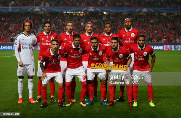 Benfica team group phot during the UEFA Champions League group A match between SL Benfica and Manchester United at Estadio da Luz on October 18 2017...
