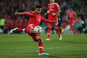 Benfica's Argentinian midfielder Eduardo Salvio during the Premier League 2015/16 match between Rio Ave FC and SL Benfica at Rio Ave Stadium in Vila...