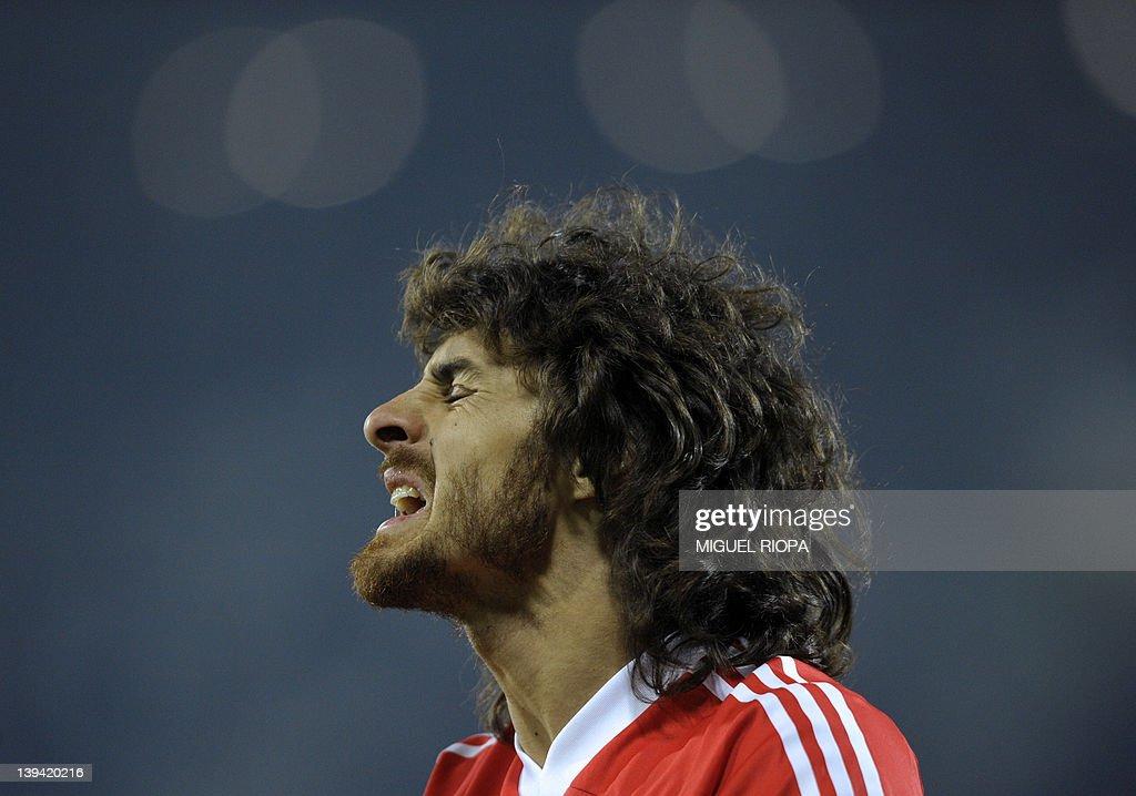 Benfica's Argentinian midfielder Pablo A : News Photo
