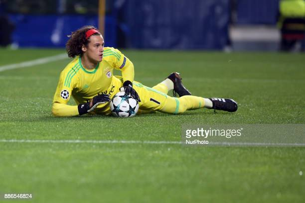 Benfica's Belgian goalkeeper Mile Svilar in action during the UEFA Champions League Group A football match between SL Benfica and FC Basel at the Luz...